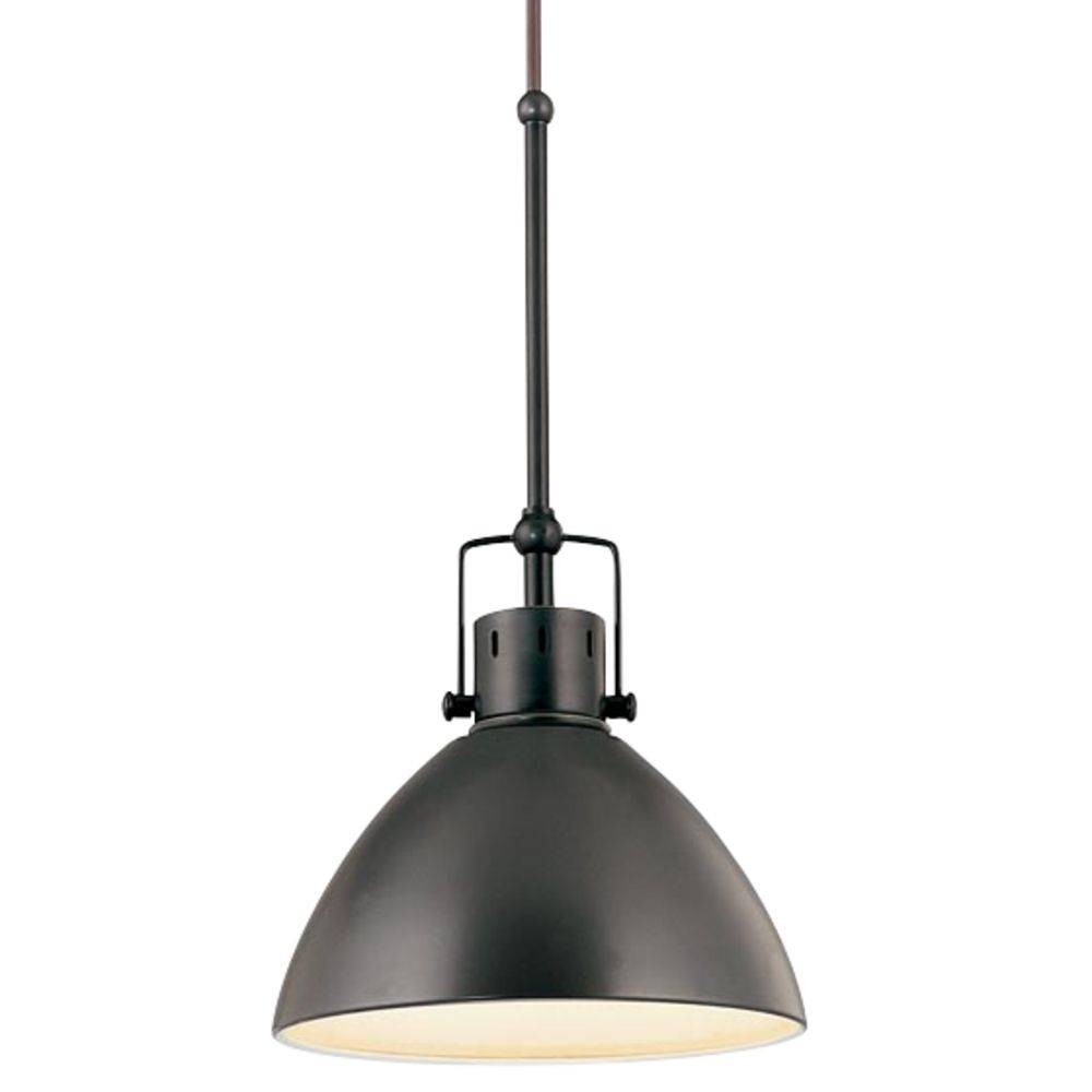 Retro Cone Mini Pendant Light In Aged Bronze | 2038-1-78 within Black Mini Pendant Lights (Image 11 of 15)