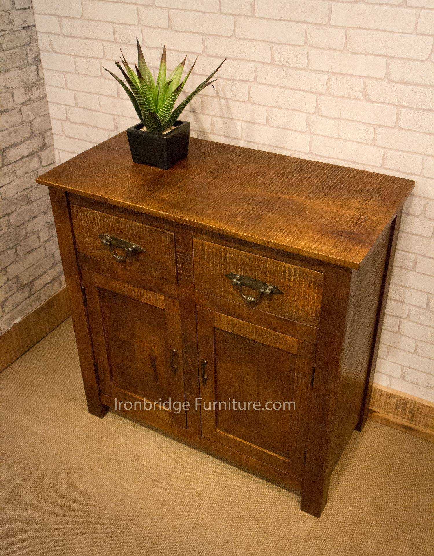 Rf-Ssba Rustic Farm Short Sideboard Extra Dark Finish - Last One for Rustic Sideboard Furniture (Image 10 of 15)