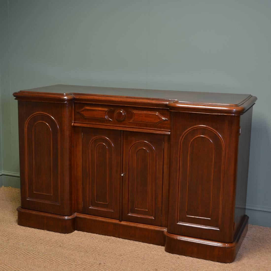 Rich Mahogany Victorian Antique Sideboard - Antiques World within Antique Sideboards (Image 15 of 15)
