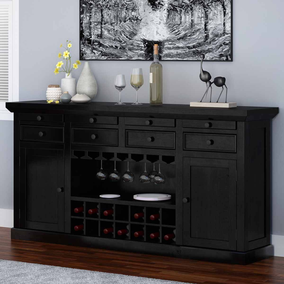 Rustic Buffets Sideboards with Bar Sideboards (Image 7 of 15)
