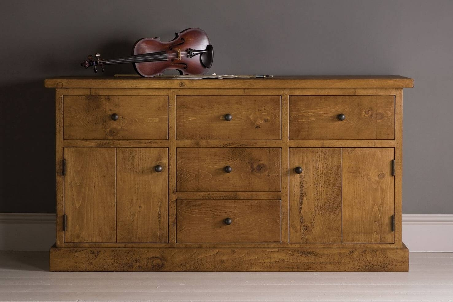 Rustic Wooden Sideboards | Oak & Pine | Indigo Furniture With Regard To Pine Sideboards (View 8 of 15)
