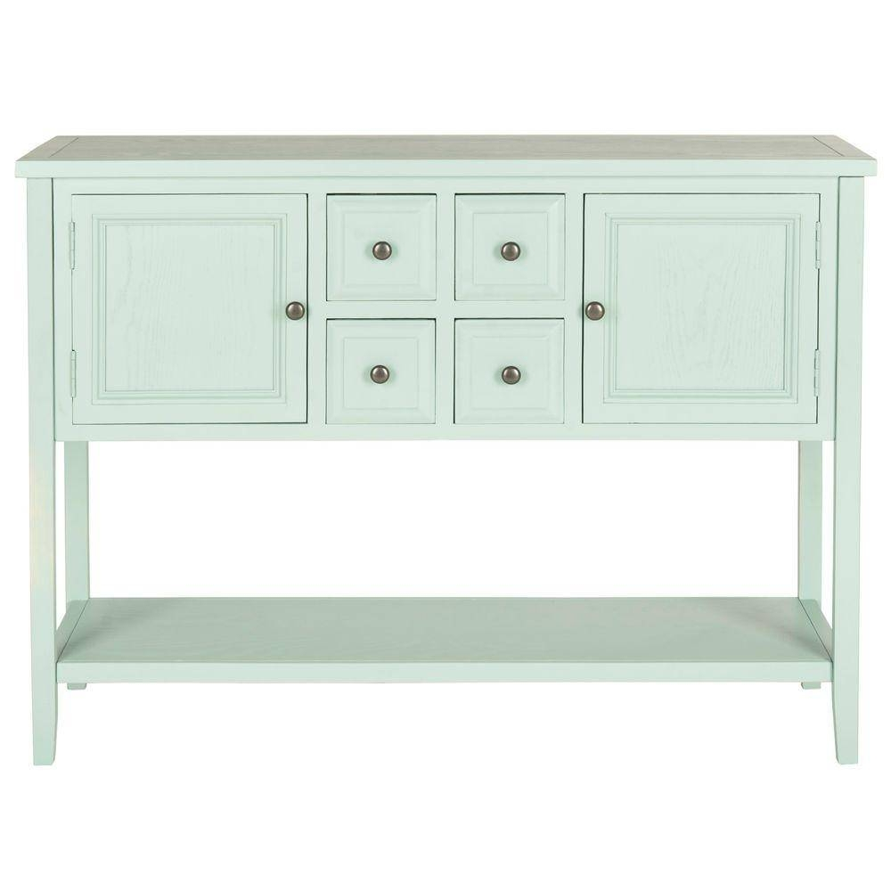Safavieh Charlotte Aqua Smoke Buffet With Storage Amh6517h – The In Safavieh Sideboards (View 8 of 15)