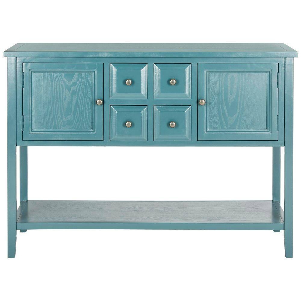 Safavieh Charlotte Slate Teal Buffet With Storage-Amh6517G - The for Blue Sideboards (Image 9 of 15)