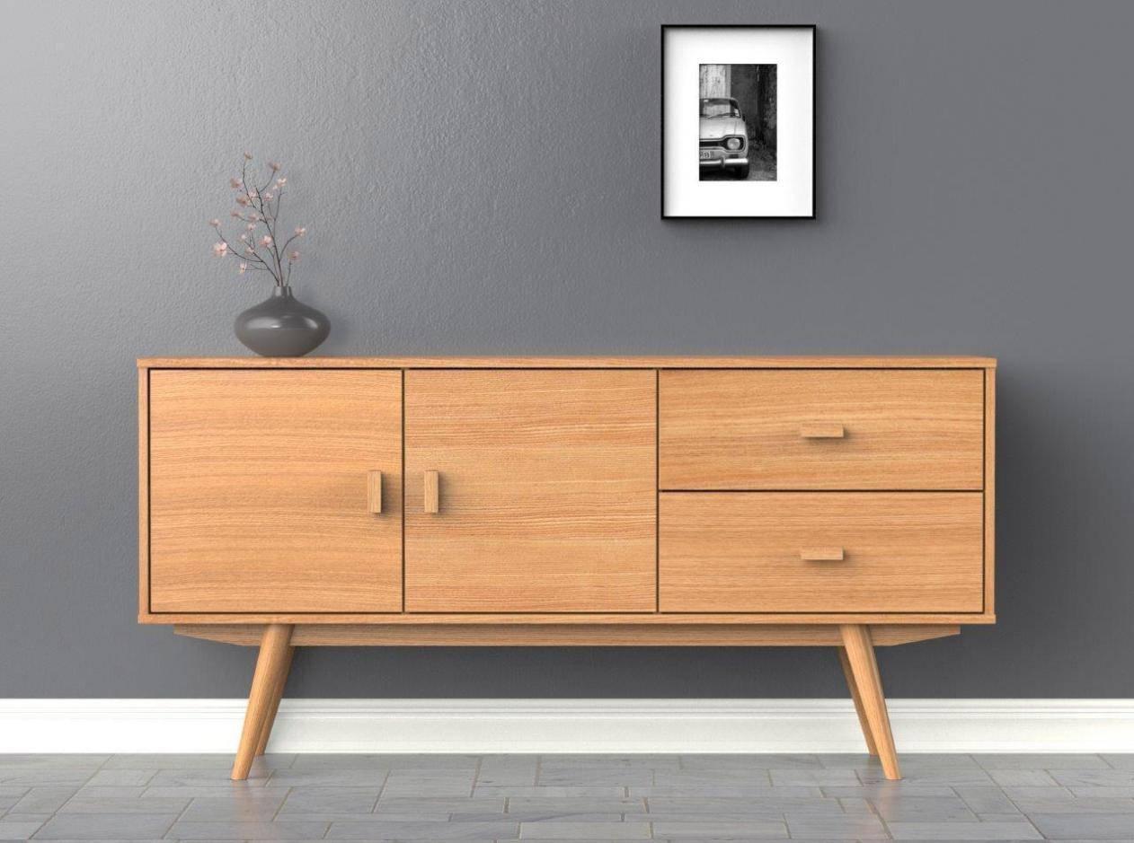 Scandi Sideboard – Large – Buffet – Ash – Scandinavian Style Throughout Scandinavian Sideboards (View 5 of 15)