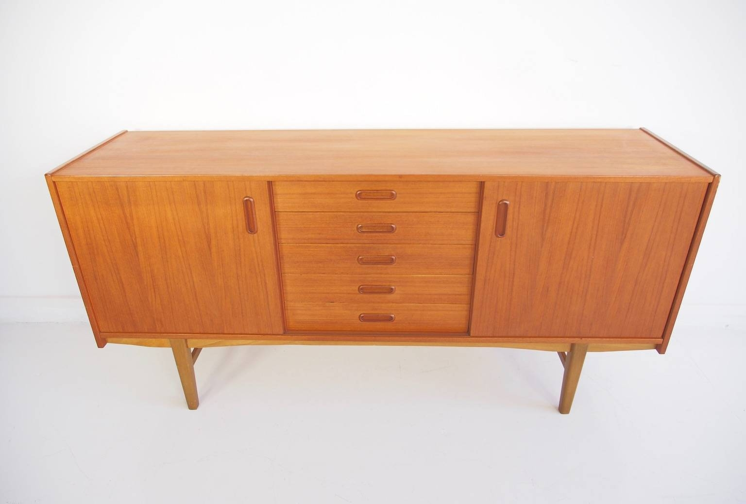 Scandinavian Modern Teak Sideboard With Shelves And Drawers, 1960S With Regard To Scandinavian Sideboards (View 7 of 15)