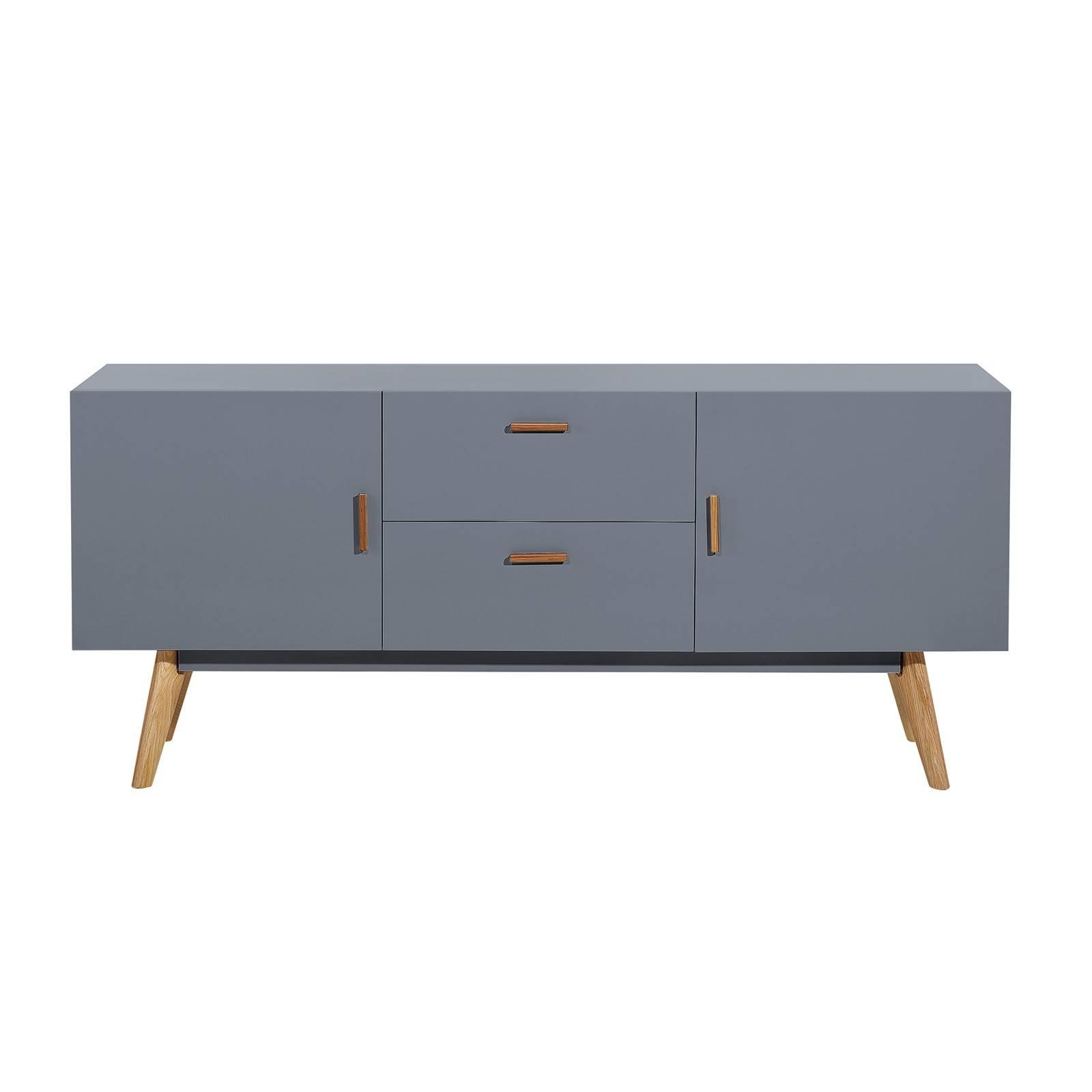 Scandinavian Retro Style White Sideboard Abreo Home Furniture Regarding Scandinavian Sideboards (View 11 of 15)
