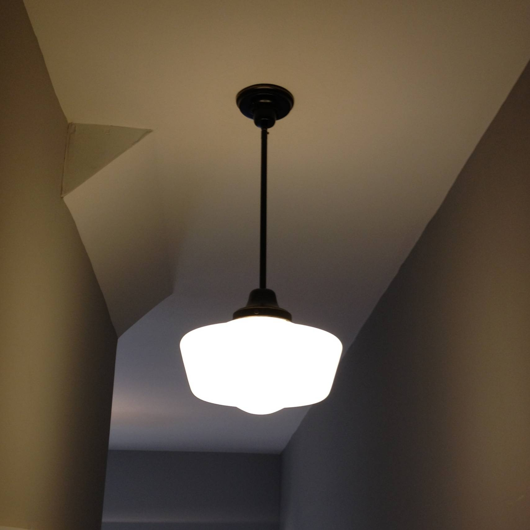 Schoolhouse Pendant Light Fixture — All About Home Design : How To intended for Schoolhouse Pendant Lights (Image 13 of 15)