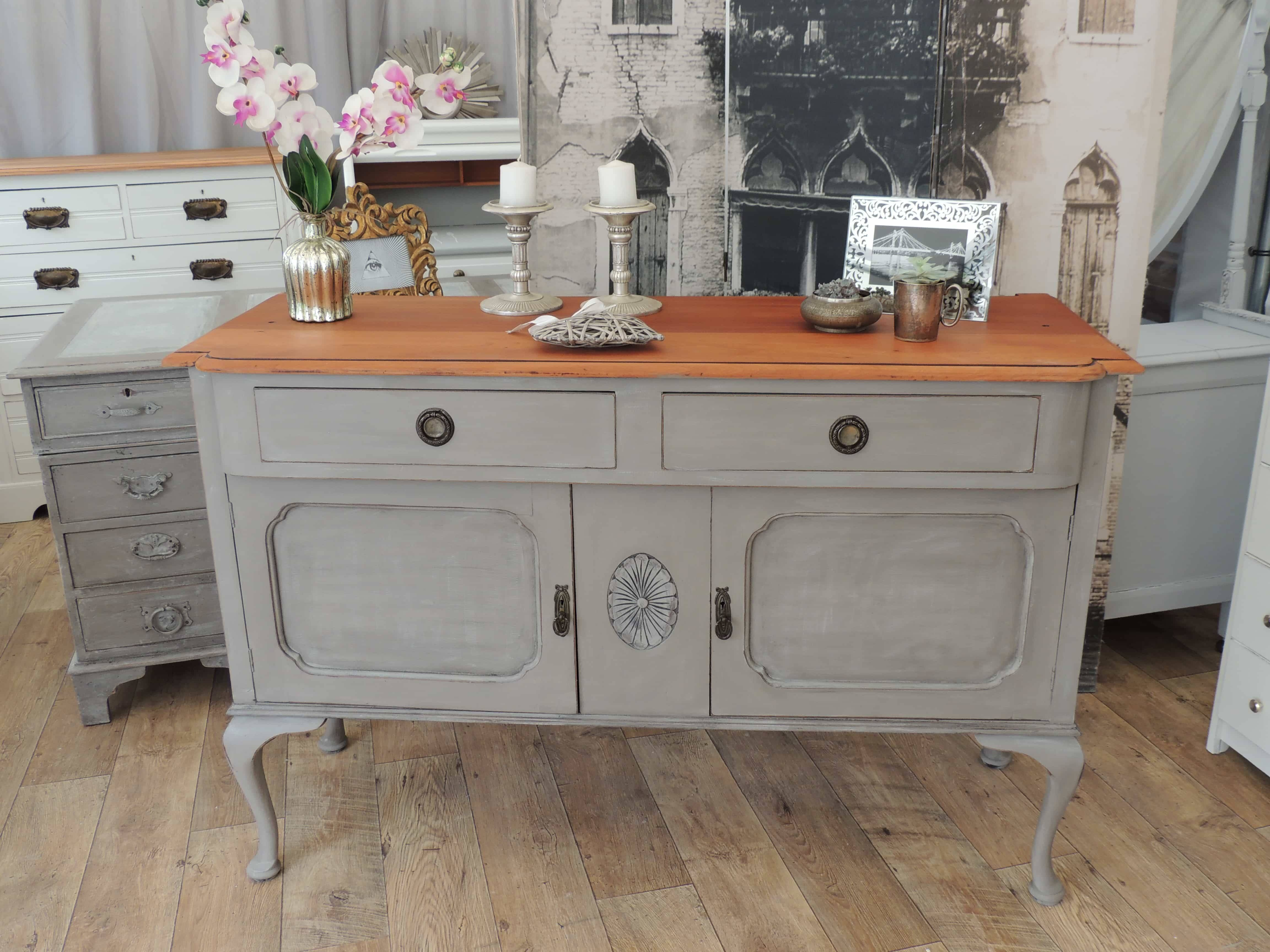 Shabby Chic Edwardian Sideboard – Eclectivo London | Furniture Within Shabby Chic Sideboards (View 9 of 15)