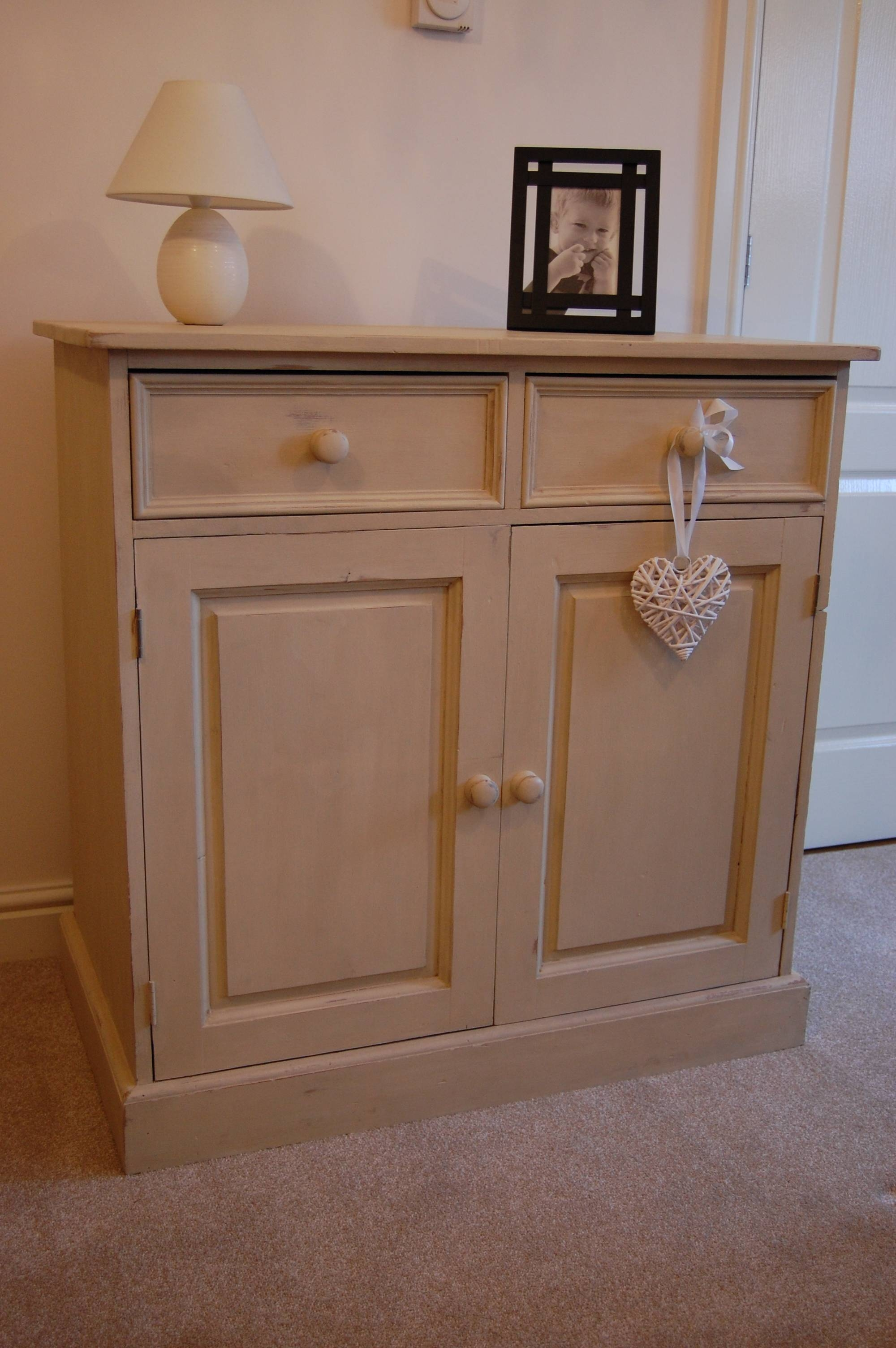 Shabby Chic Small Cream Sideboard, Plum Interior | With A Little Throughout Shabby Chic Sideboards (View 12 of 15)