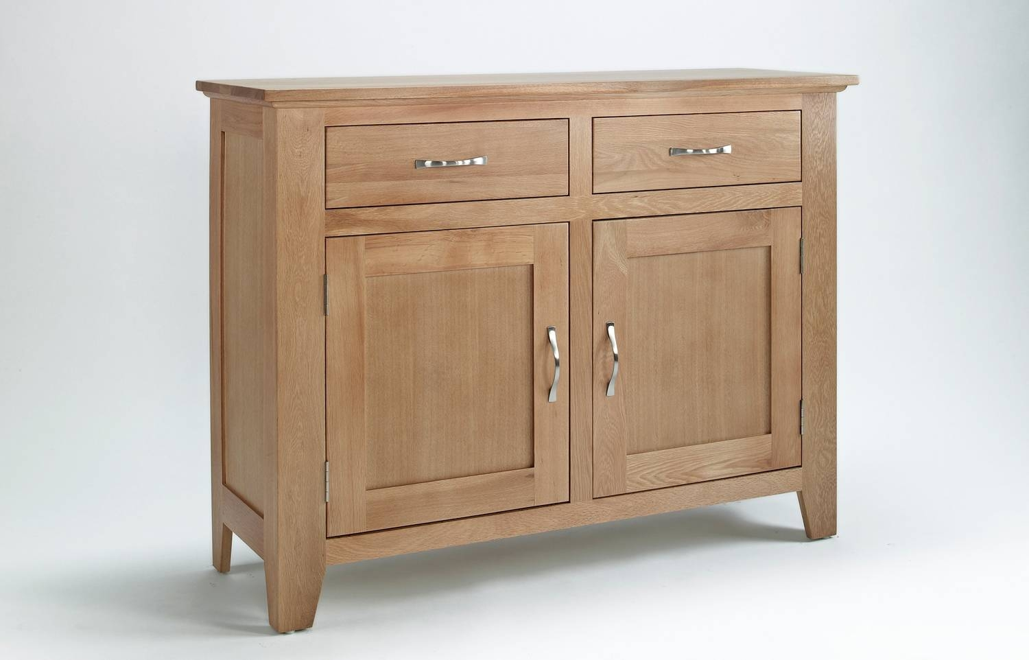 Sherwood Oak Sideboard With 2 Doors & 2 Drawers throughout 2 Door Sideboards (Image 10 of 15)