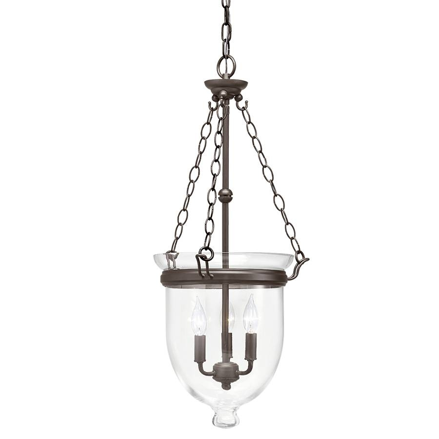 Shop Kichler Belleville 15.51-In Olde Bronze Williamsburg Single in Inverted Pendant Lighting (Image 13 of 15)