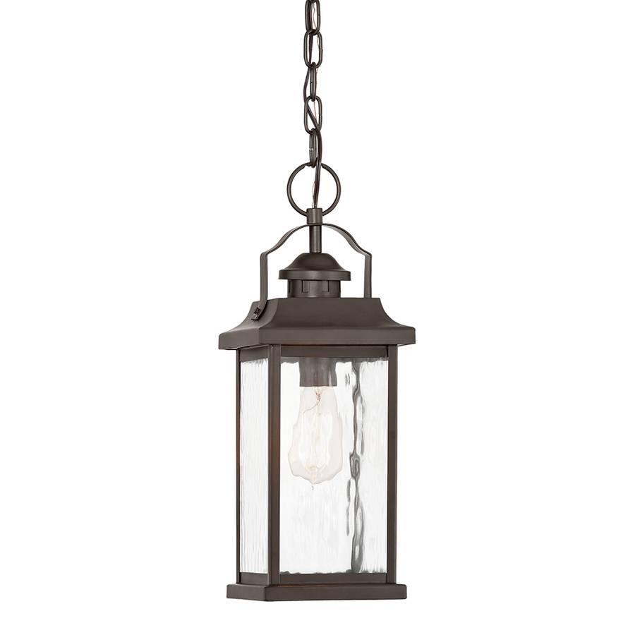 Shop Kichler Linford 16.77-In Olde Bronze Outdoor Pendant Light At regarding Outside Pendant Lights (Image 13 of 15)