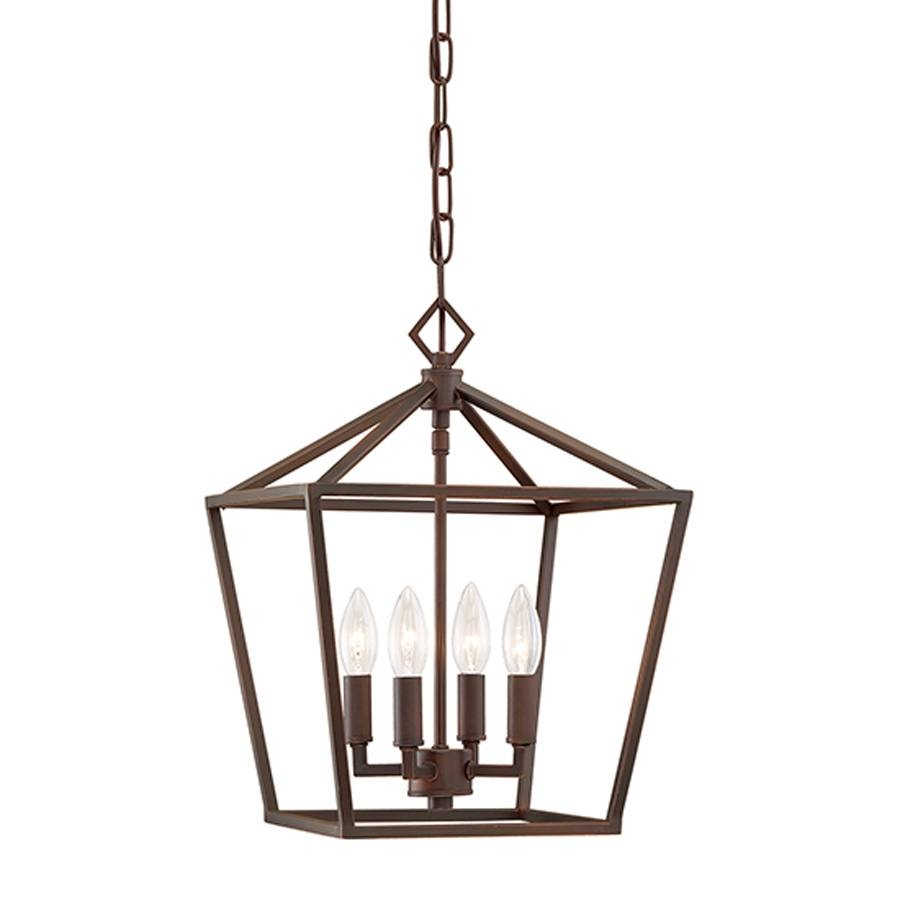Shop Millennium Lighting 12-In Rubbed Bronze Vintage Single Cage for Bronze Cage Pendant Lights (Image 14 of 15)