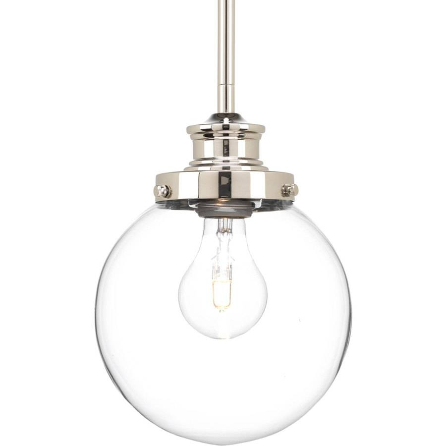 Shop Progress Lighting Penn 6.875-In Polished Nickel Mini Clear with regard to Clear Glass Globe Pendant Light Fixtures (Image 14 of 15)