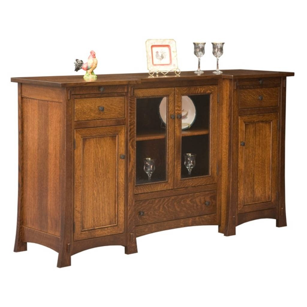 Sideboard Amish Buffets & Sideboards, Amish Furniture intended for Mission Sideboards (Image 11 of 15)