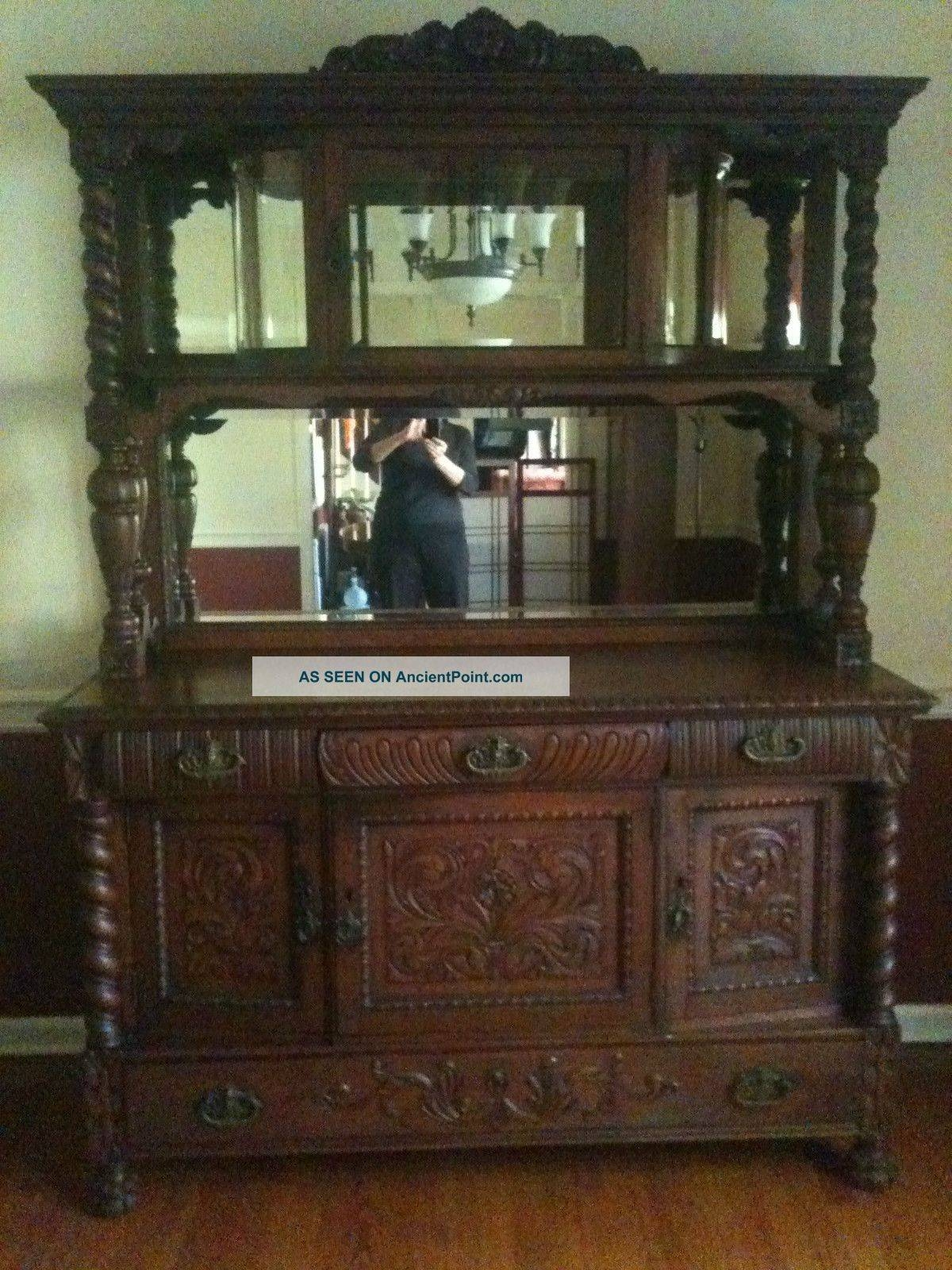 Sideboard And Buffets Inspirational On Furniture Antique Oak pertaining to Antique Sideboards With Mirror (Image 9 of 15)