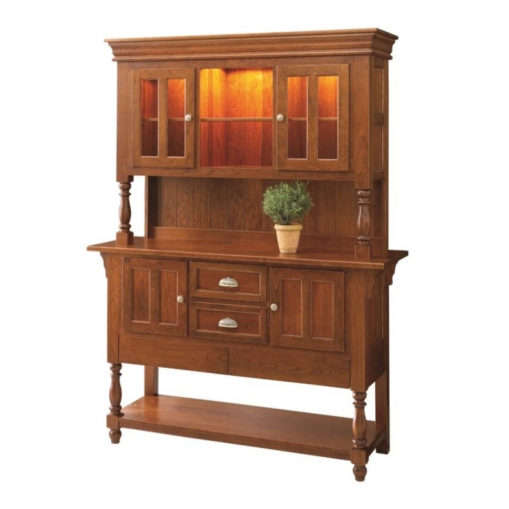 Sideboard Bedford Sideboard Hutch | Solid Hardwood Furniture for Country Sideboards And Hutches (Image 4 of 15)