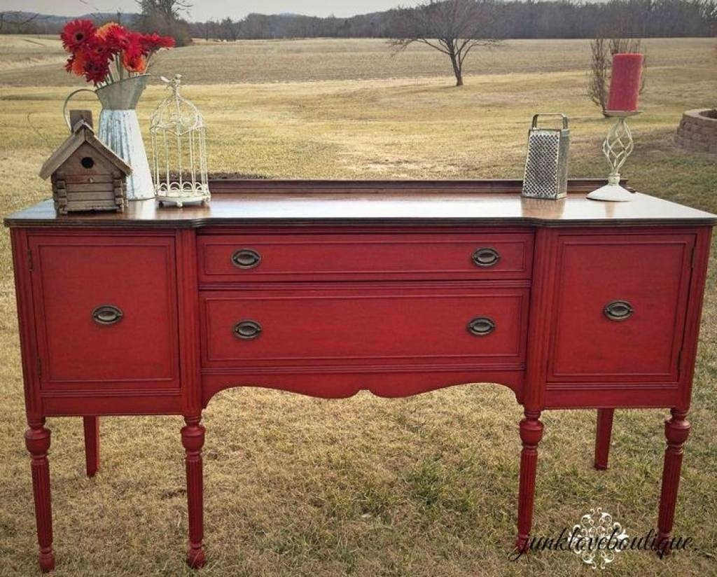 Sideboard Best 25 Red Buffet Ideas On Pinterest | Red Painted inside Red Sideboards Buffets (Image 8 of 15)