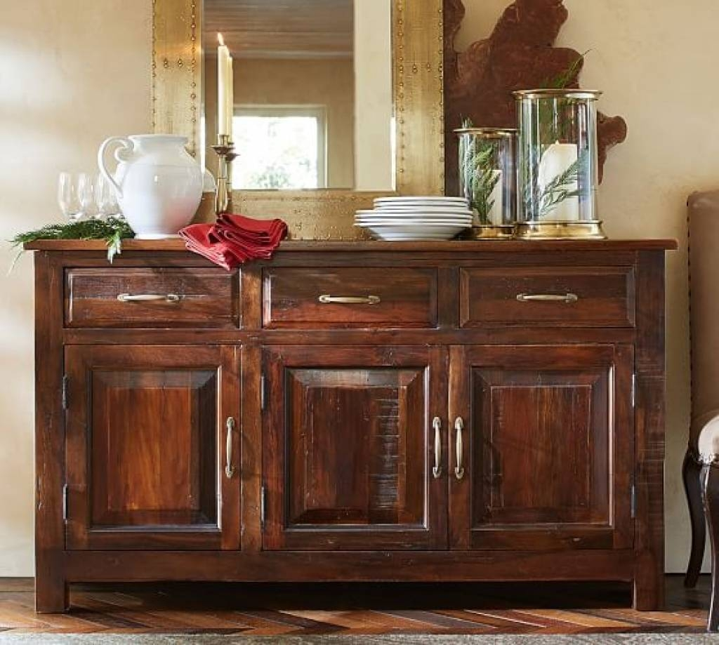 Sideboard Bowry Reclaimed Wood Buffet | Pottery Barn Throughout With Pottery Barn Sideboards (Photo 3 of 15)