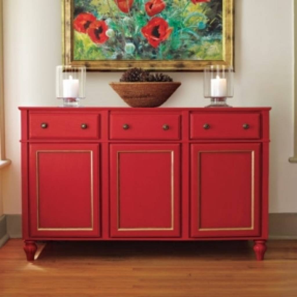 Sideboard Dining Room Buffet Sideboard Foter Regarding Red throughout Red Sideboards Buffets (Image 10 of 15)