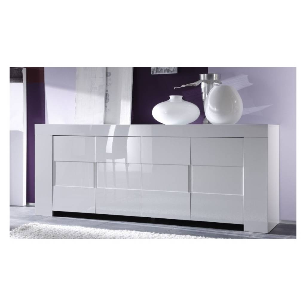 Sideboard Eos White Gloss Sideboard Sideboards Sena Home Furniture regarding Uk Gloss Sideboards (Image 8 of 15)