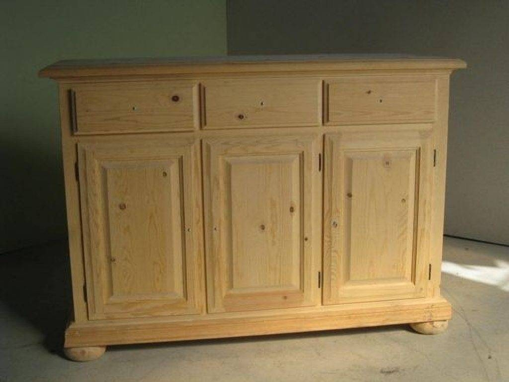 Sideboard Hand Crafted 3 Door Pine Sideboard On With Pine Sideboards (View 12 of 15)