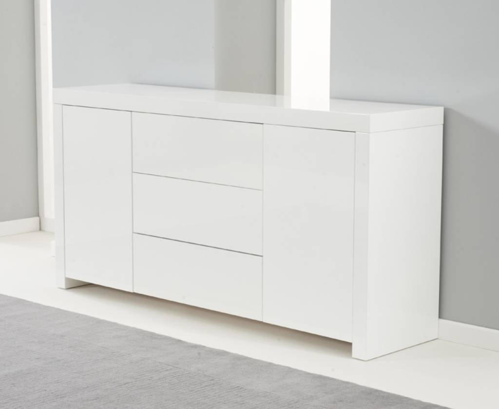 Sideboard Hereford 160Cm White High Gloss Sideboard | Edgehill intended for Uk Gloss Sideboards (Image 9 of 15)