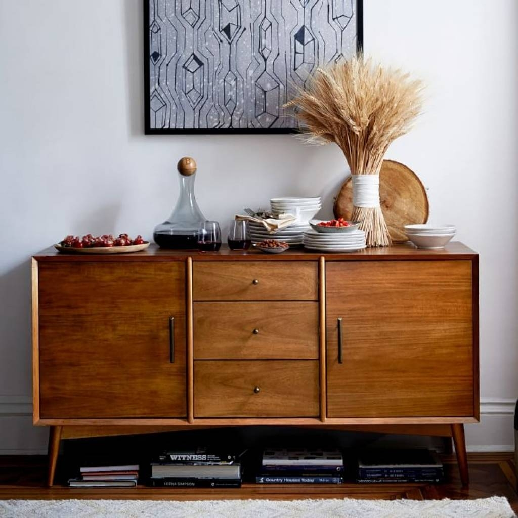 Sideboard Mid Century Buffet Large | West Elm Intended For Cheap inside West Elm Sideboards (Image 9 of 15)