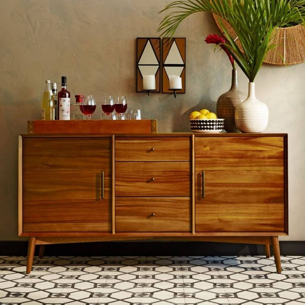 Sideboard Mid Century Buffet Large | West Elm With Regard To Large for West Elm Sideboards (Image 10 of 15)