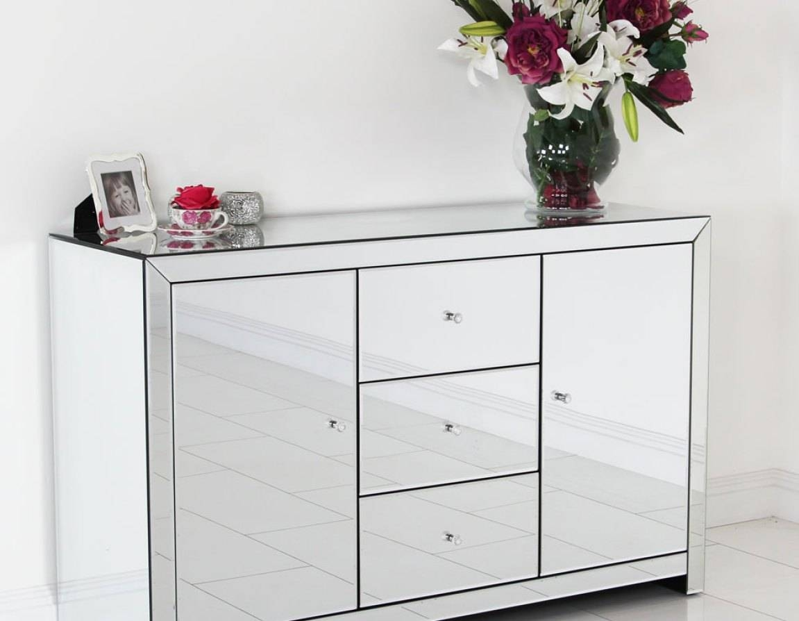 Sideboard : Mirrored Buffet Cabinet Home Design Elegant Sideboards intended for Elegant Sideboards (Image 11 of 15)