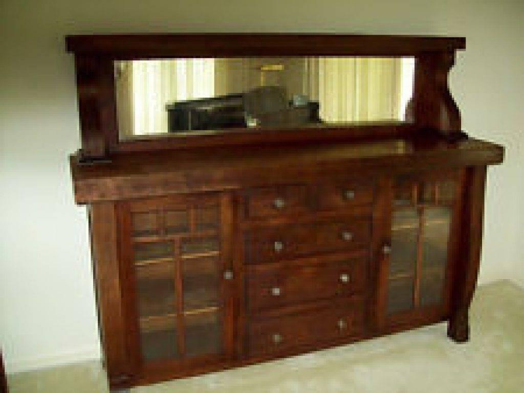 Sideboard Oak America Antique Sideboards & Buffets (1900 1950 With Regard To Antique Sideboards And Buffets (View 14 of 15)