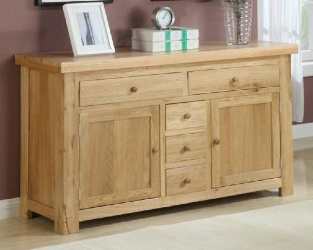 Sideboard Oak Sideboard | Solid Oak Sideboards | Oak Dresser Units With Cheap Sideboards Cabinets (View 3 of 15)