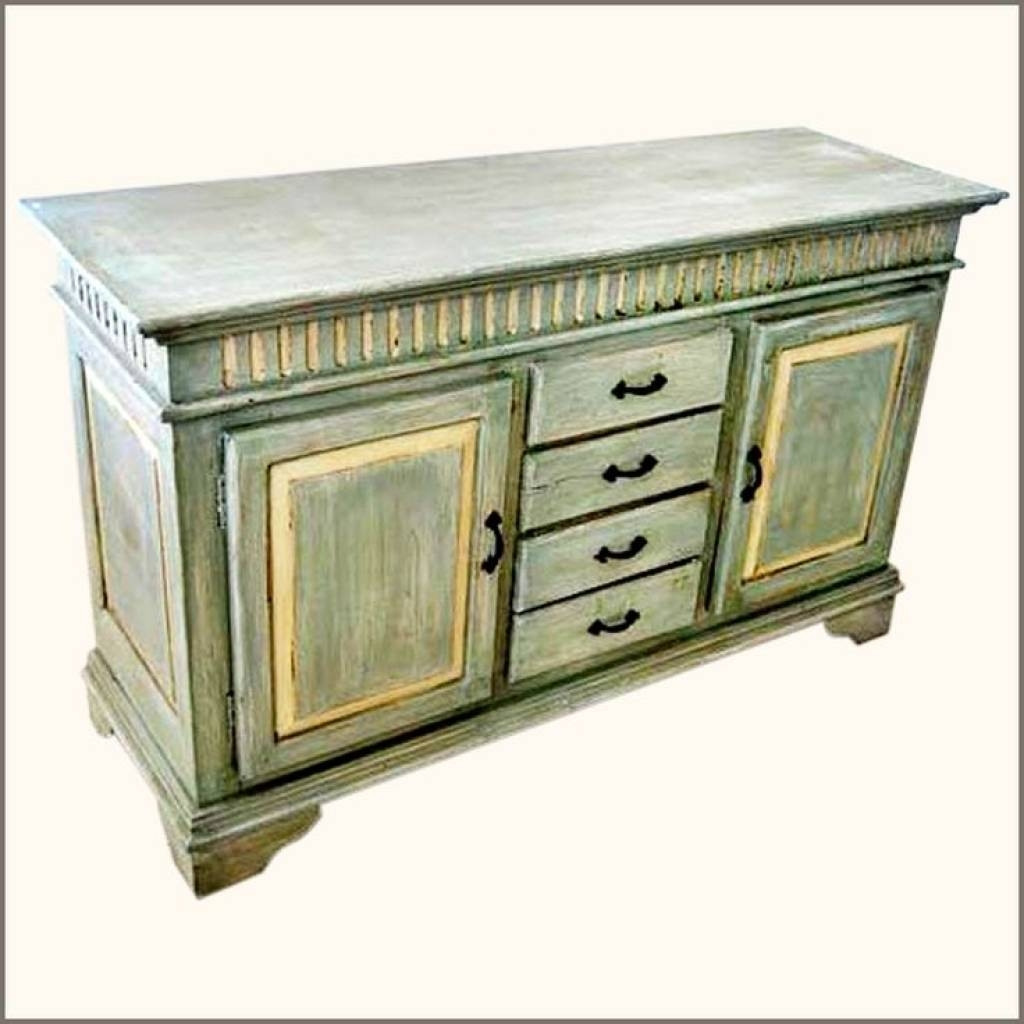 Sideboard Oklahoma Farmhouse Hand Painted Sideboard Buffet With Regarding Hand Painted Sideboards (Photo 12 of 15)