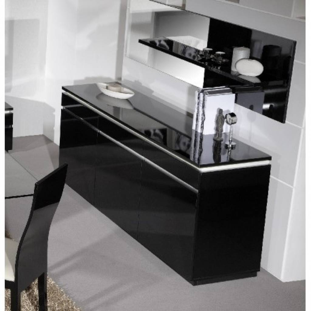 Sideboard Orde Black High Gloss Sideboard With Lights Sideboards pertaining to Sideboards With Lights (Image 10 of 15)