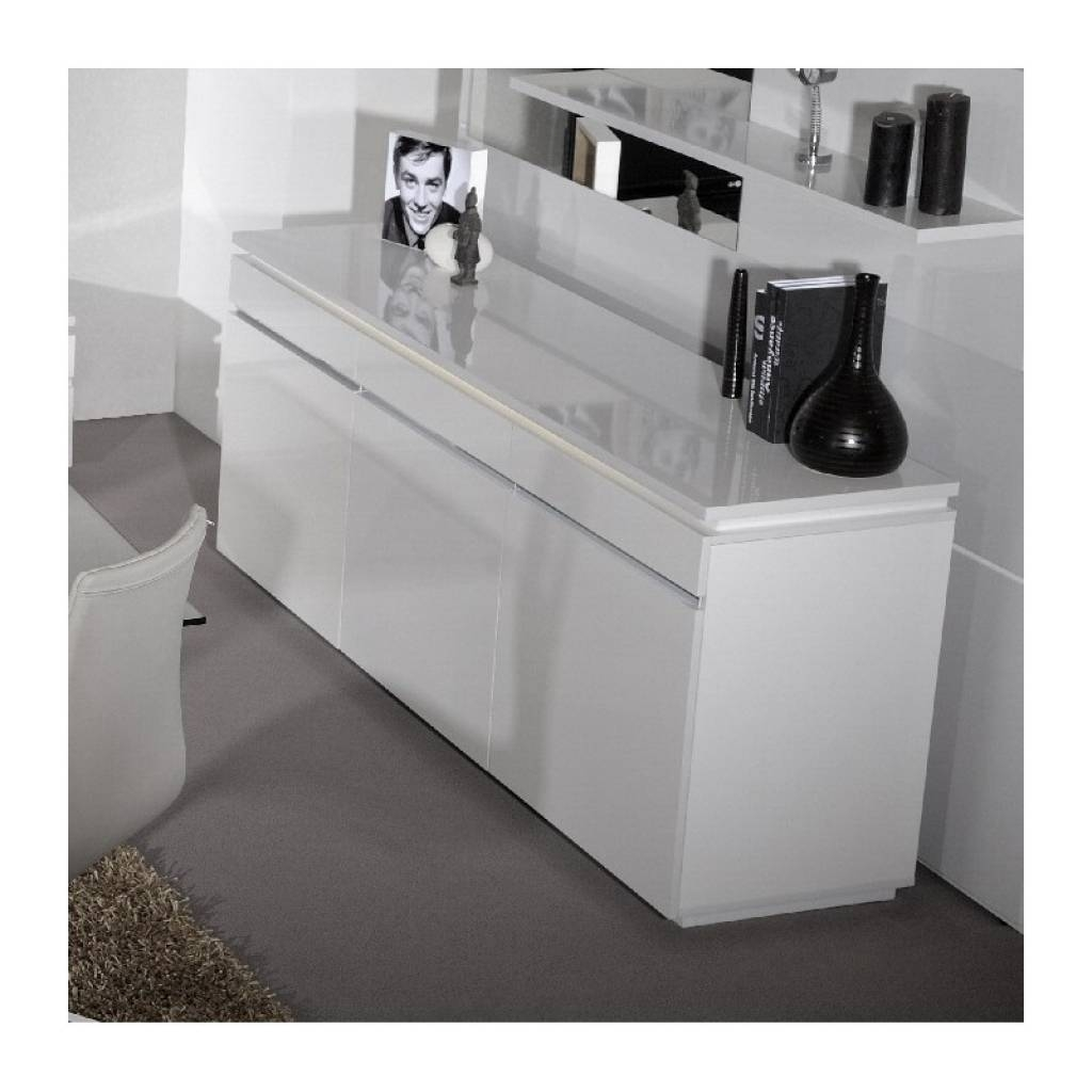 Sideboard Orde White High Gloss Sideboard With Lights Sideboards Within Sideboards With Lights (View 4 of 15)