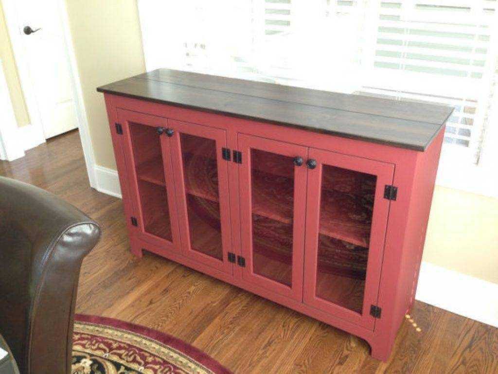 Sideboard Painted Buffet Red Sideboard Large Buffet Credenza In intended for Red Buffet Sideboards (Image 8 of 15)