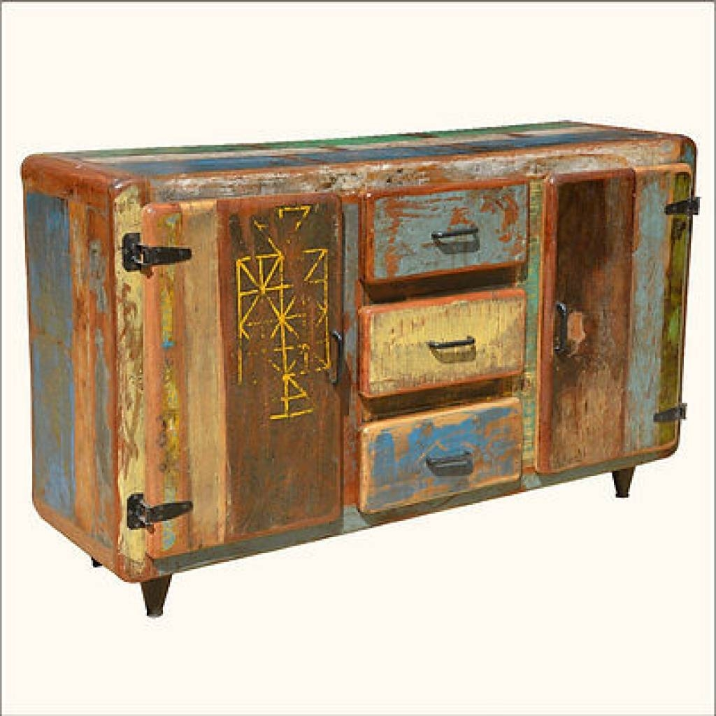 Sideboard Reclaimed Wood Buffets & Sideboards Collection On Ebay with Reclaimed Sideboards (Image 11 of 15)