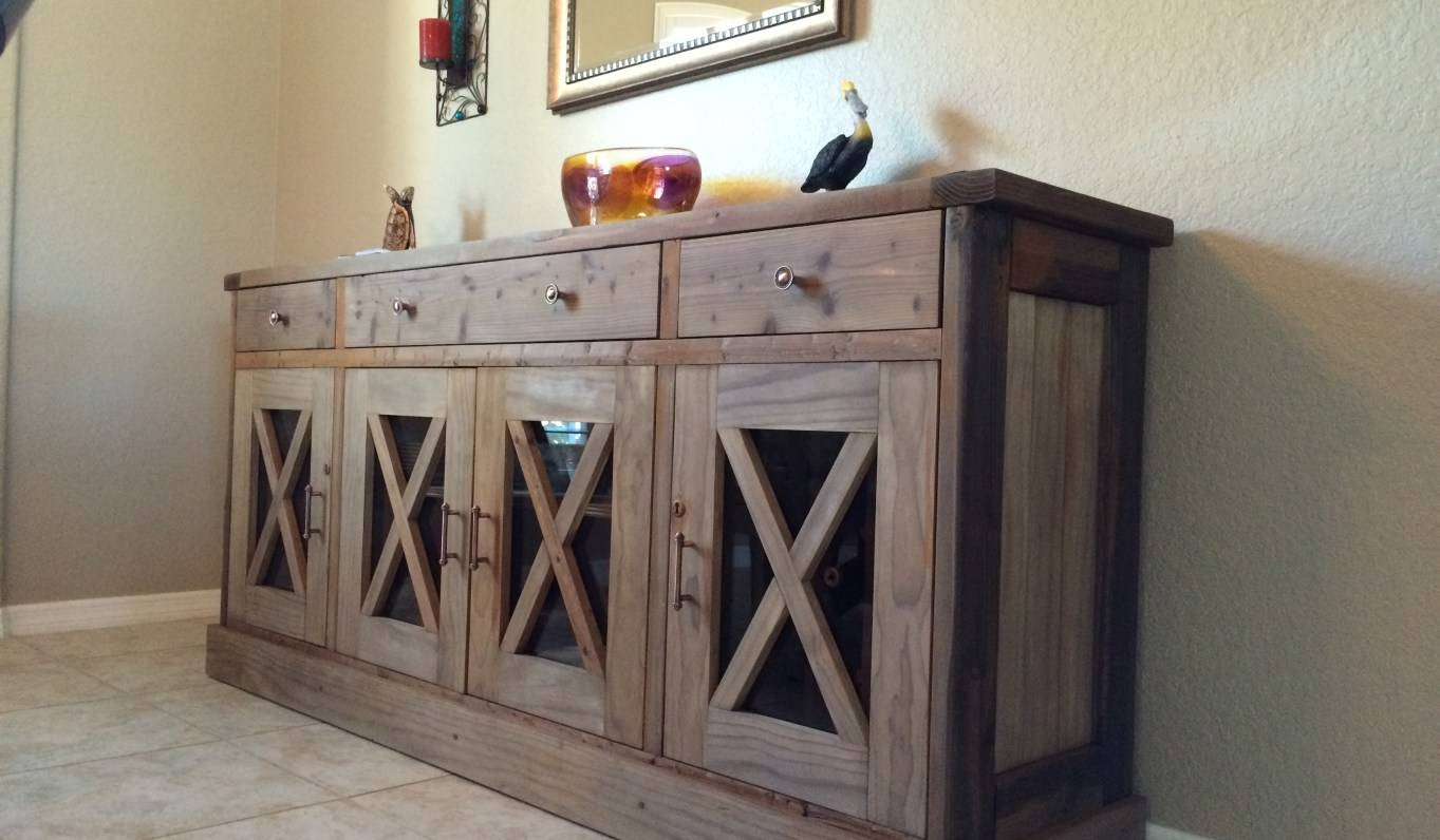 Sideboard : Rustic Sideboard Beautiful Farmhouse Buffet Table regarding Rustic Sideboards and Buffets (Image 9 of 15)