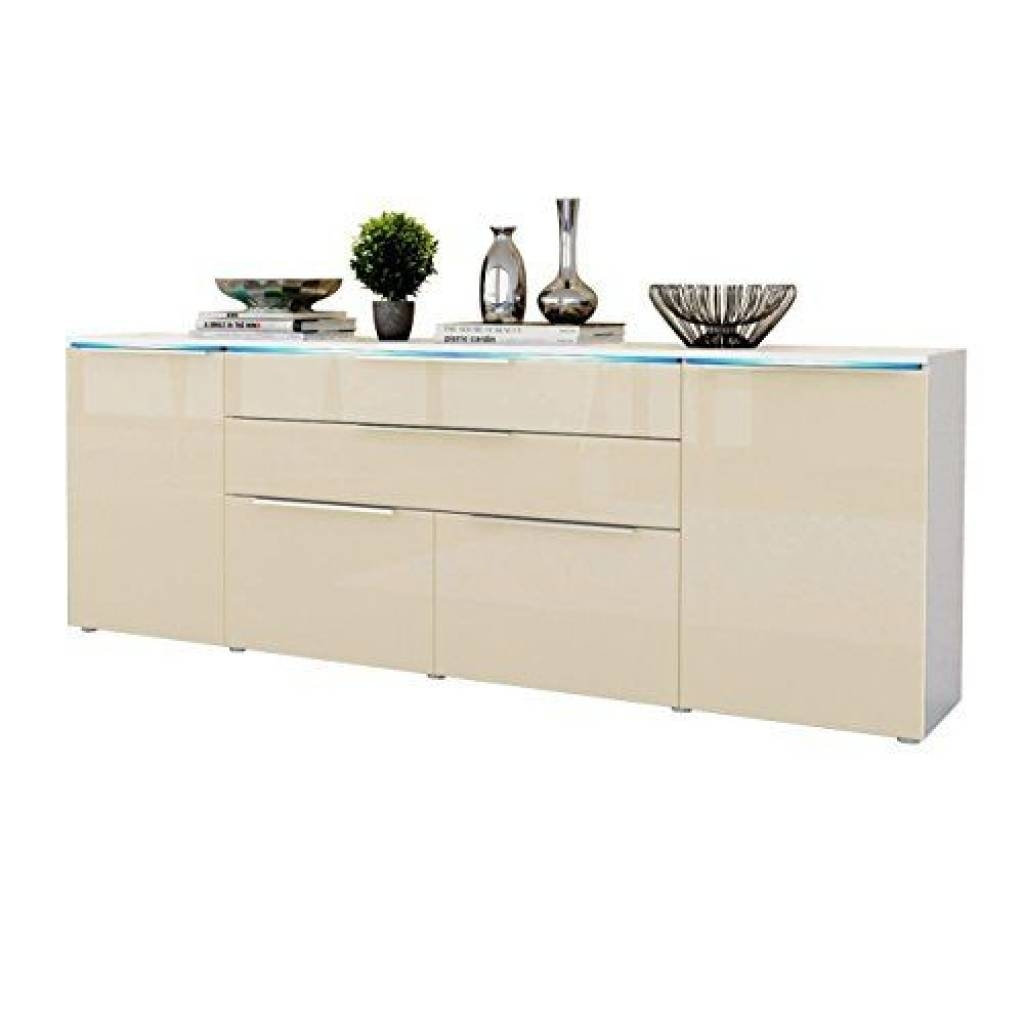Sideboard Sideboard Cabinet Triest In White Matt / Cream High with regard to High Gloss Cream Sideboards (Image 13 of 15)