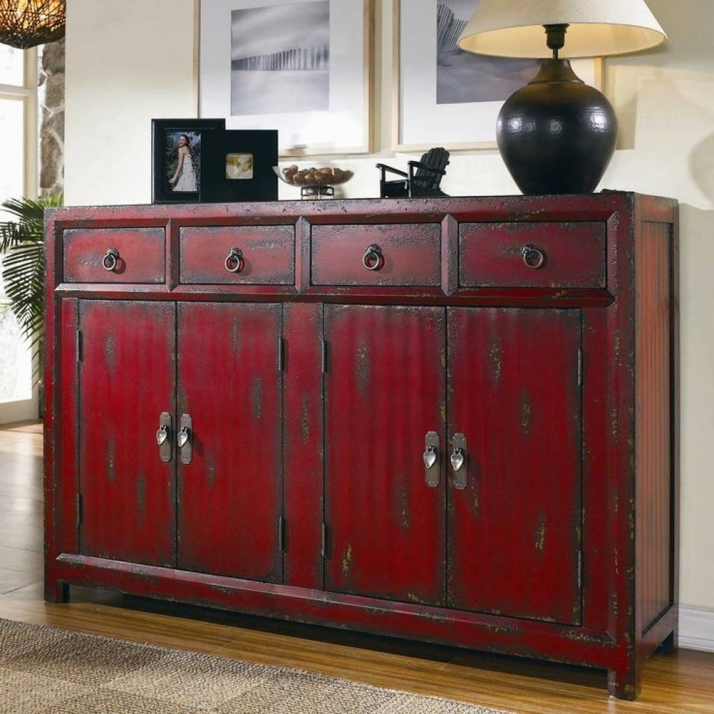 Sideboard Sideboards. Astonishing Red Buffet Cabinet: Red Buffet regarding Red Buffet Sideboards (Image 12 of 15)