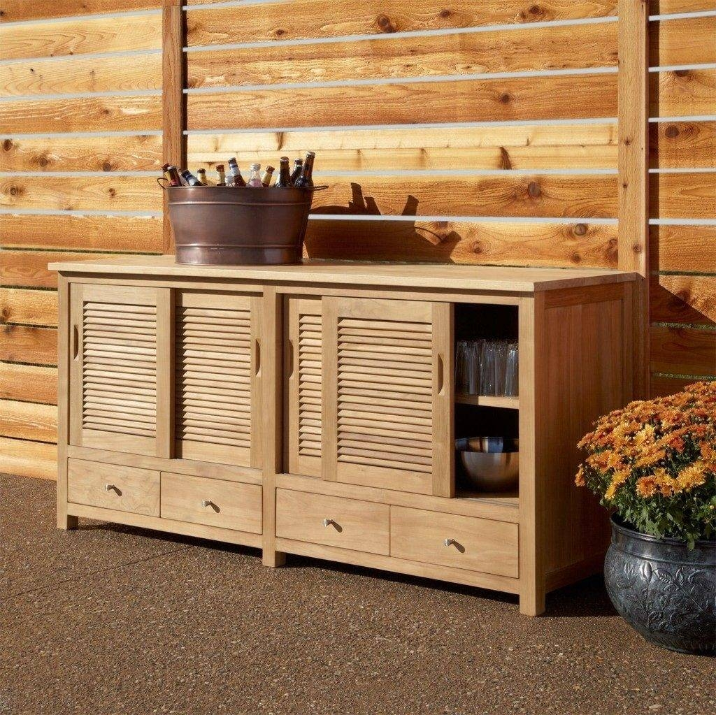 Sideboard Sideboards. Glamorous Outdoor Sideboard Cabinet: Outdoor with regard to Outdoor Sideboard Cabinets (Image 11 of 15)