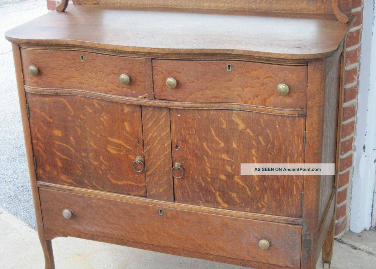 Sideboard : Vintage Sideboards And Buffets Charming Antique Oak With Vintage Sideboards And Buffets (View 6 of 15)