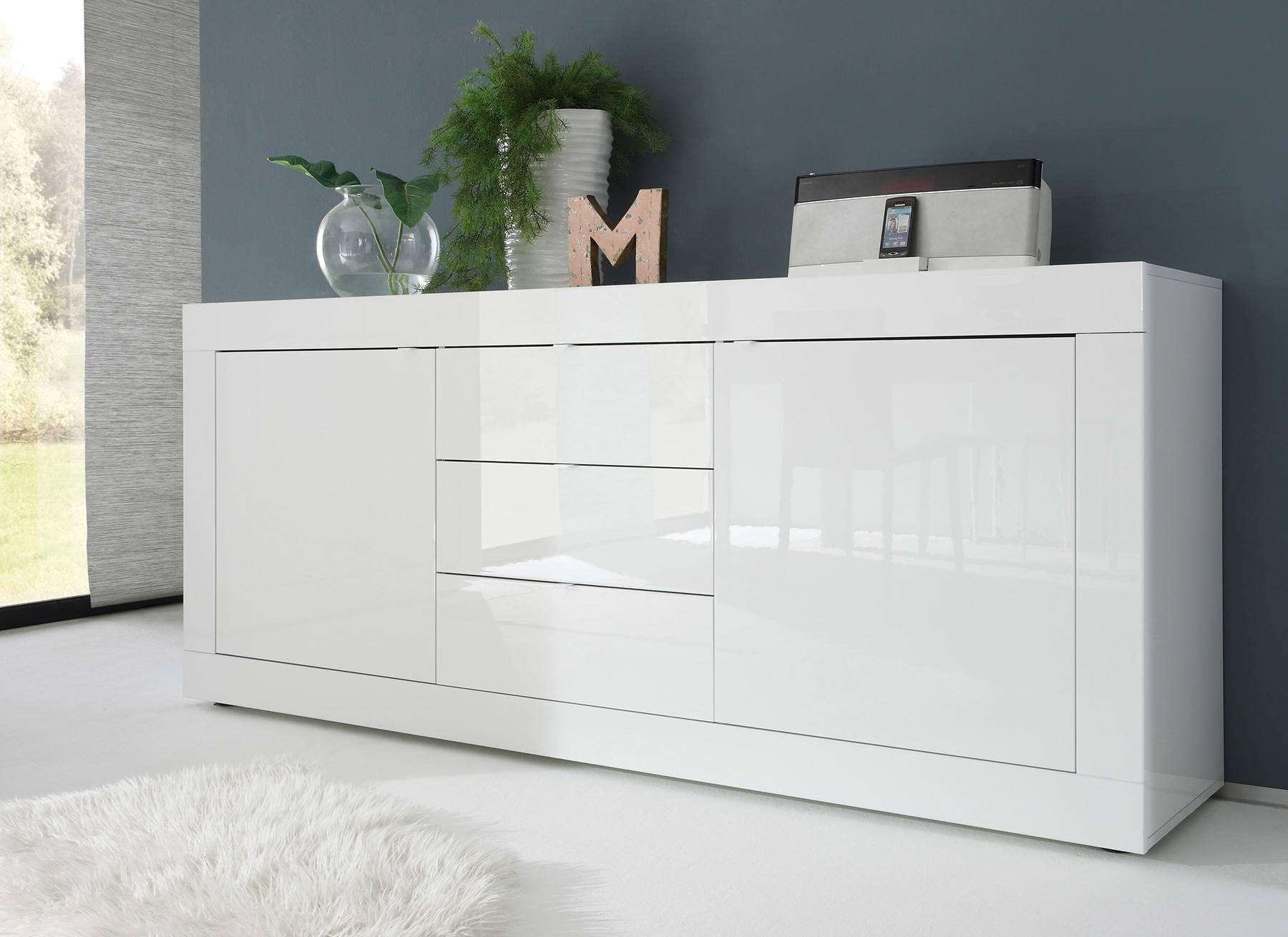 Brilliant Hochglanz Sideboard Foto Von Weiß / Eiche Wenge Caserta18 - Designermöbel