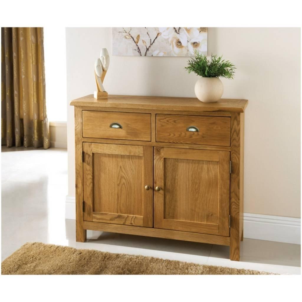 Sideboard Wiltshire 2 Door 2 Drawer Oak Sideboard | Furniture B&m Inside Slim Oak Sideboards (View 13 of 15)