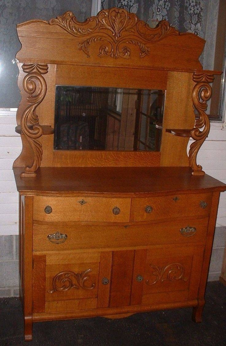 Sideboard With Mirror Oak for Antique Sideboards With Mirror (Image 11 of 15)