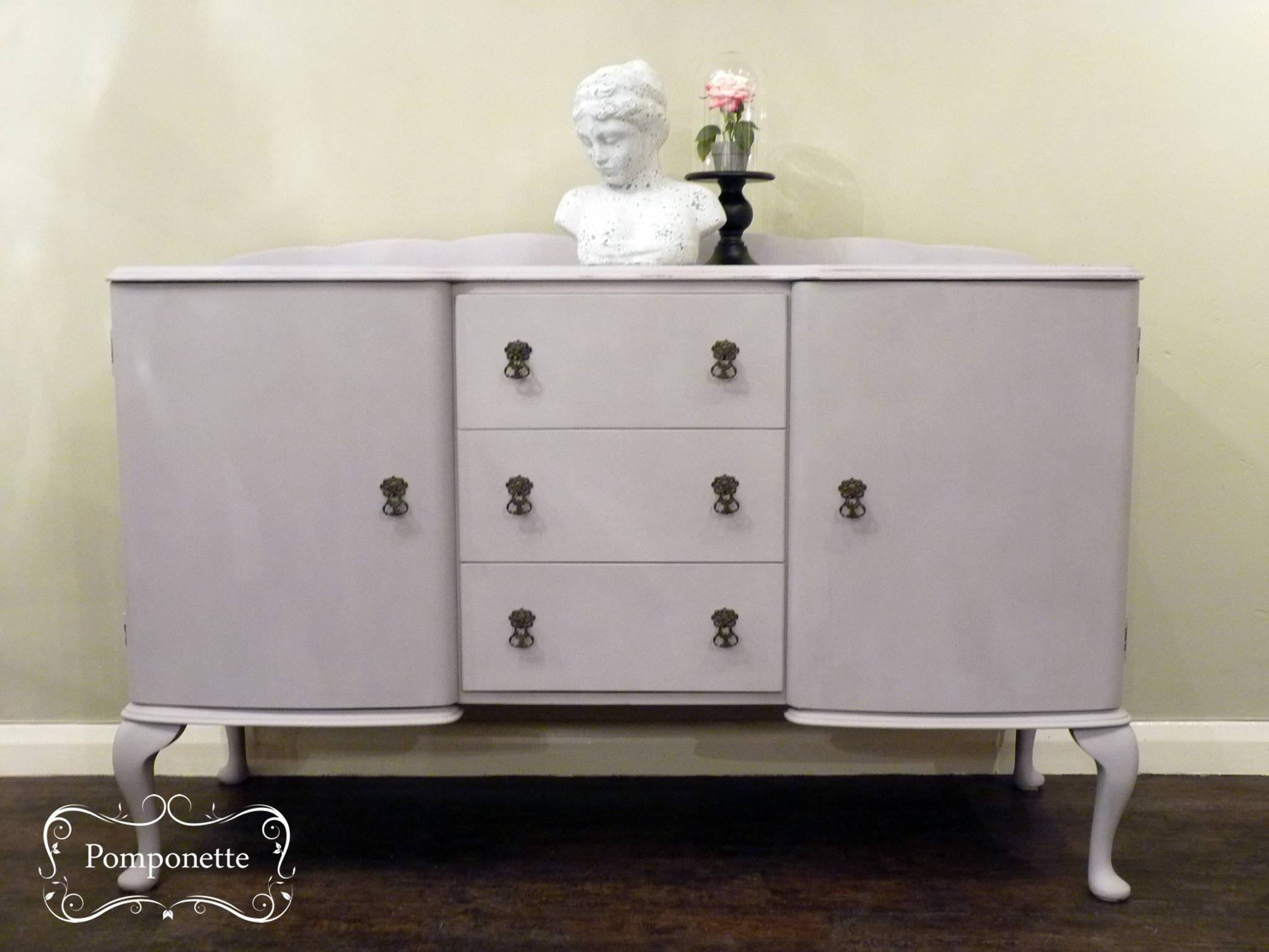 Sideboardpomponette|vintage Painted Furniture Within Annie Sloan Painted Sideboards (View 8 of 15)