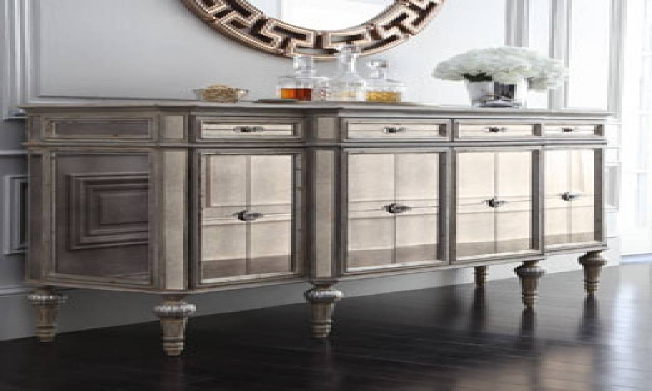 Sideboards: Astonishing Sideboard And Mirror Antique Sideboard with Mirrored Buffet Sideboards (Image 15 of 15)