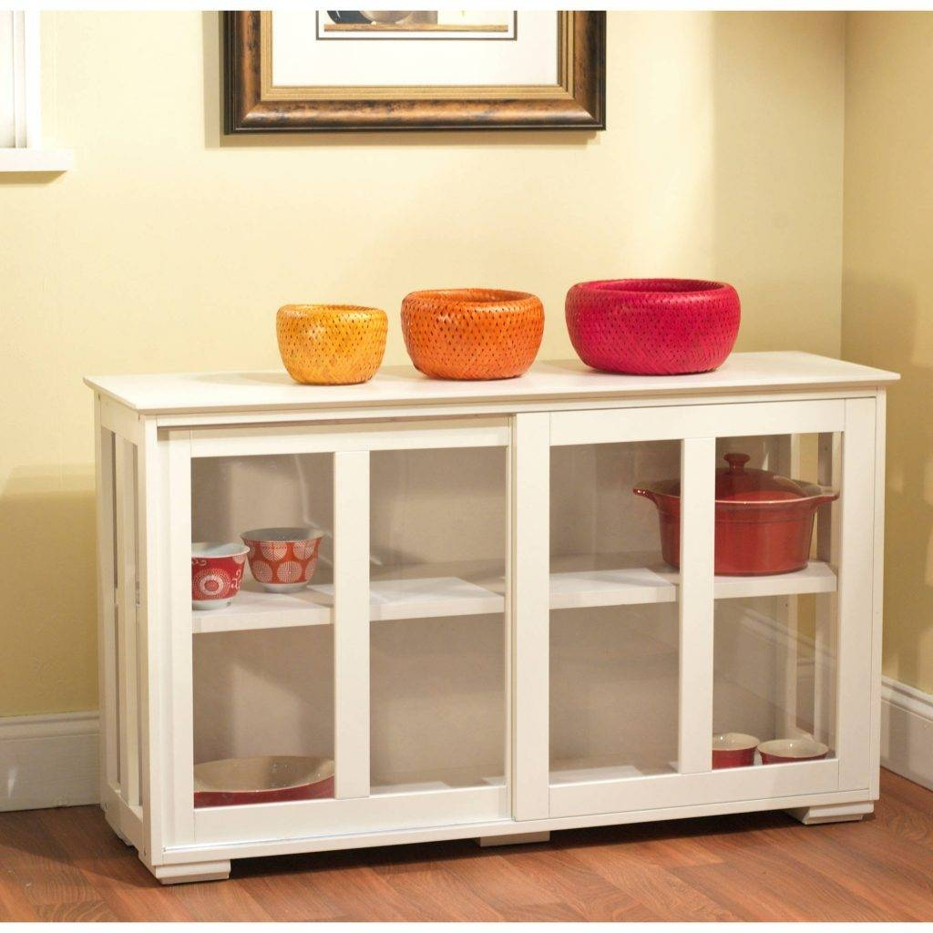 Sideboards Astounding White Hutch With Glass Doors White Hutch Intended For Sideboards With Glass Doors And Drawers (View 13 of 15)