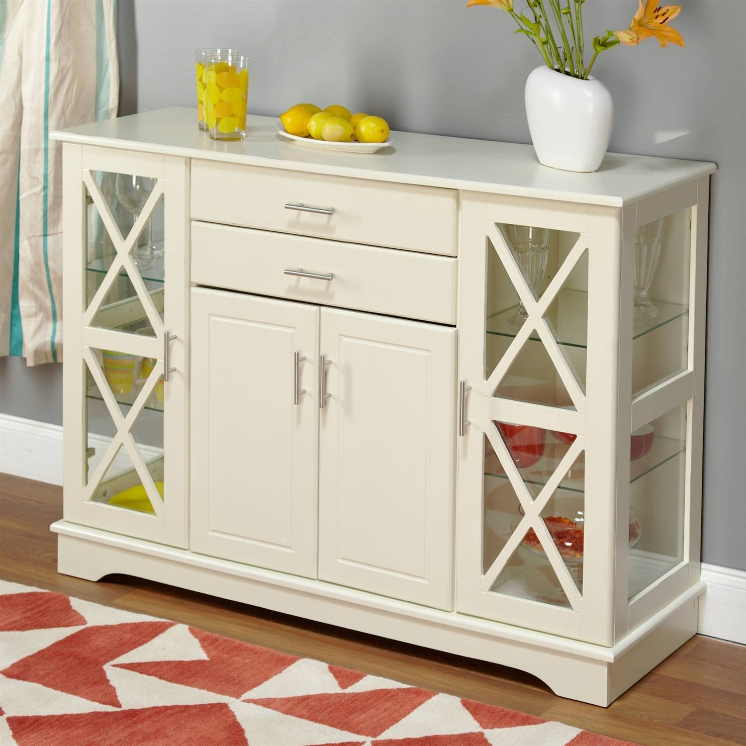 Sideboards & Buffets in White Sideboards With Glass Doors (Image 12 of 15)