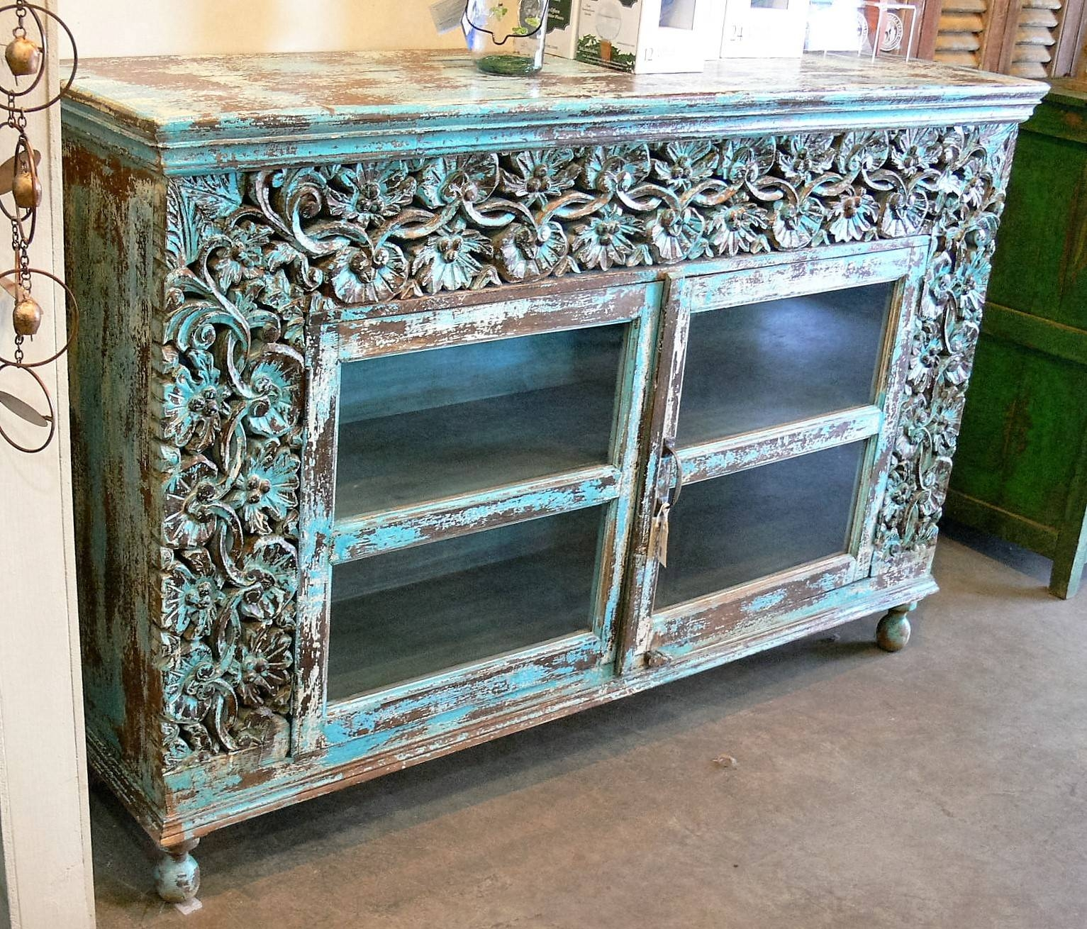 Sideboards & Buffets » Market Imports – Home, Patio, Antiques Within Turquoise Sideboards (View 5 of 15)